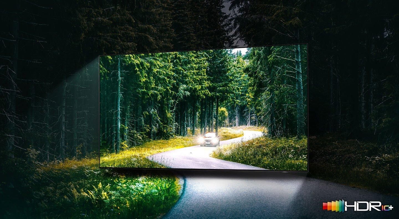 samsung terrace tv kültéri televízió qled 4K 2021 hdr10+ magas fényerő