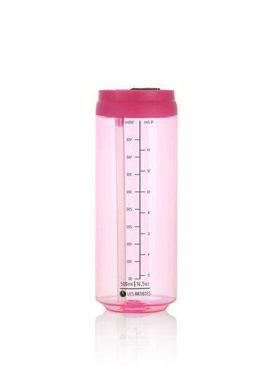 Les Artistes Paris Cestovní láhev 500 ml Transparent Pink