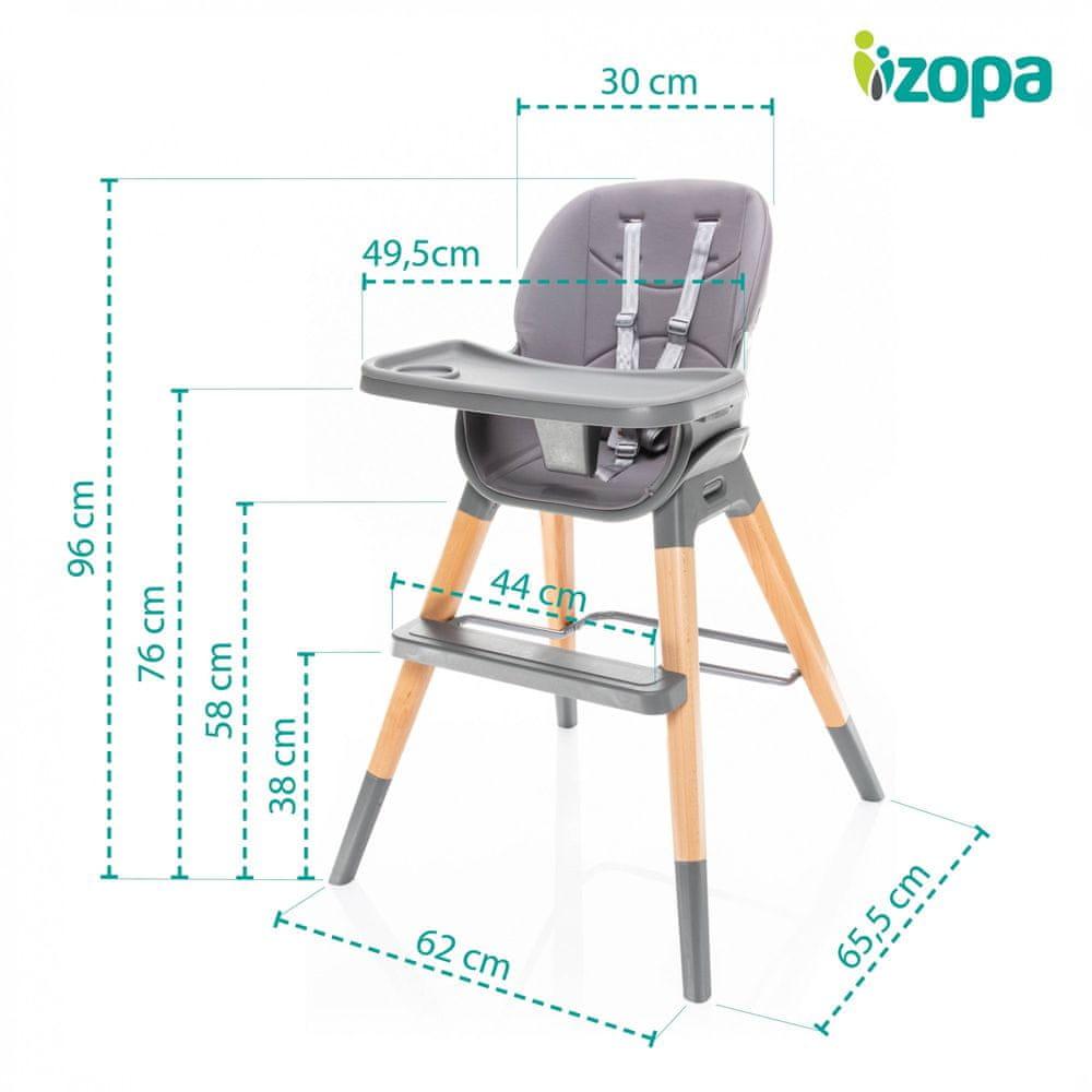 ZOPA Dětská židlička Nuvio Dove Grey - zánovní
