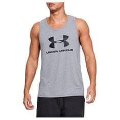 Under Armour Alsóruha Sportstyle Logo Tank, Férfiak Férfi pólók Férfi felsőruházat szürke XXL