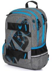 Karton P+P OXY Sport GREY LINE blue šolski nahrbtnik