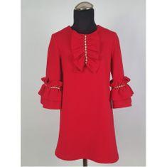 DAGA kidswear Dievčenské šaty červené DAGA -Daga collection