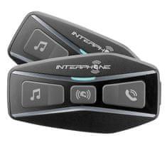 Interphone Bluetooth headset pro uzavřené a otevřené přilby Interphone U-COM4, Twin Pack