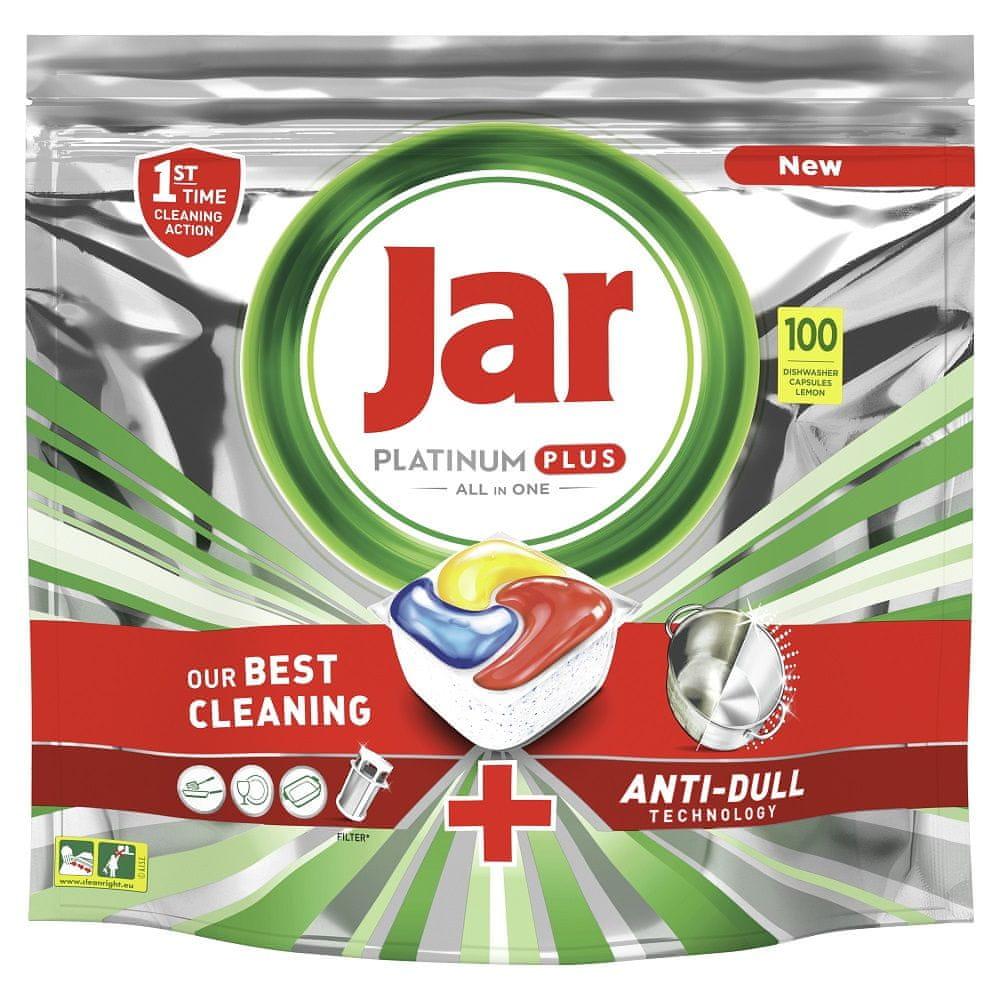 Jar Platinum Plus Kapsle do myčky Lemon, 100 Ks