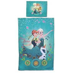 """SETINO Detské obliečky """"Frozen"""" - 140x200, 70x90 - modrá"""