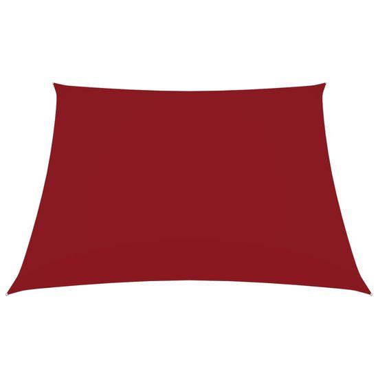 shumee Square Garden Sail Oxford Cloth 5x5 m Rdeča