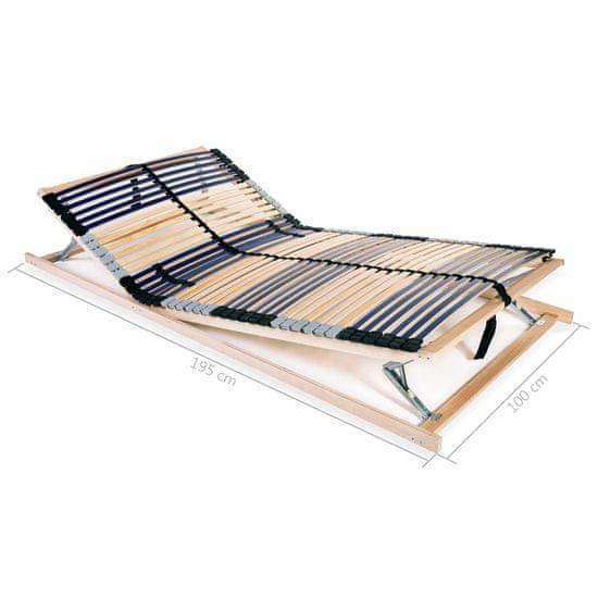 Greatstore Letveno dno za posteljo 42 letvic 7 con 100x200 cm