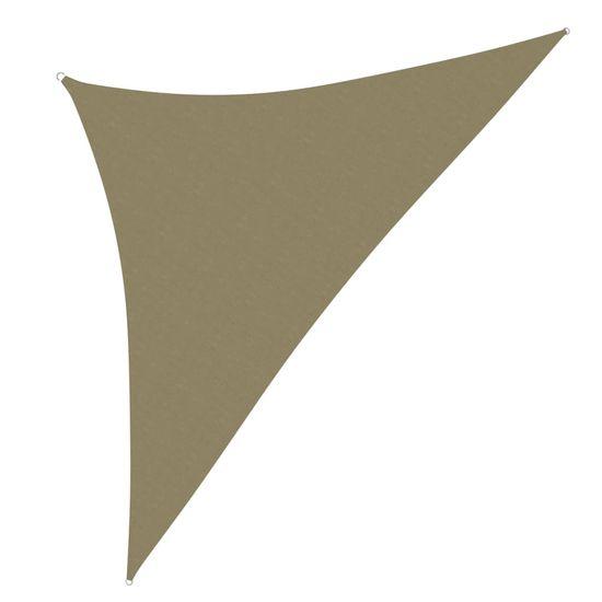 shumee Vrtno trikotno jadro Oxford Cloth 3,5x3,5x4,9 m Bež