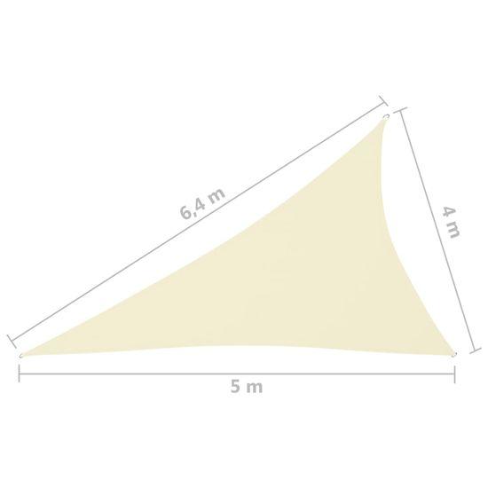 shumee Vrtno trikotno jadro Oxford Cloth 4x5x6,4 m Krema