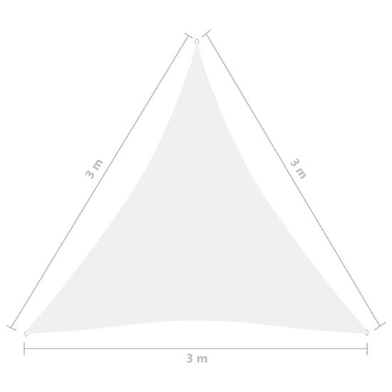 Greatstore Senčno jadro oksford blago trikotno 3x3x3 m belo