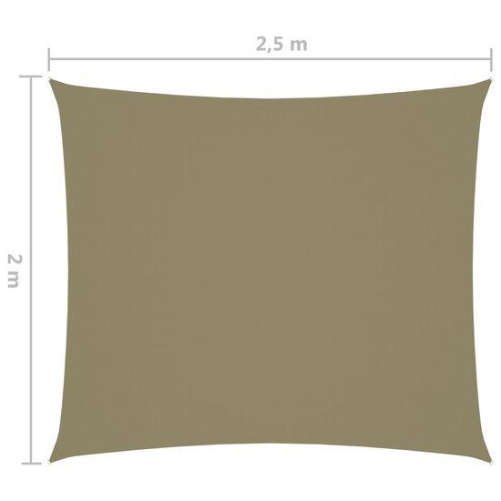 shumee Pravokotna vrtna jadra Oxford Cloth 2x2,5 m Bež
