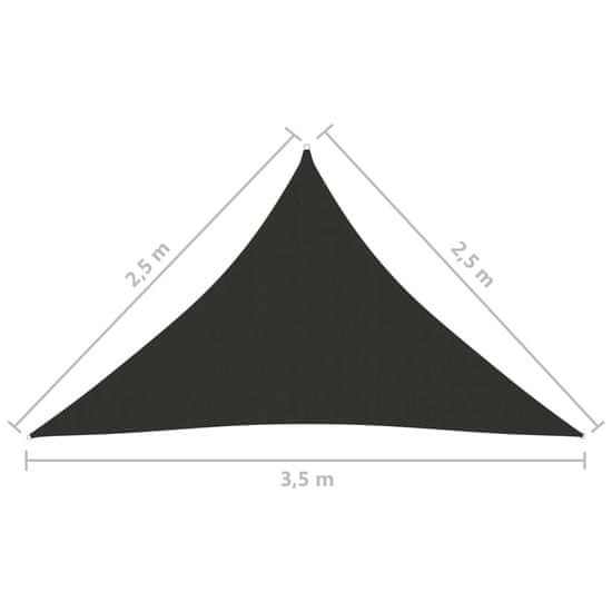 shumee Vrtno jadro Oxford Cloth Triangular 2,5x2,5x3,5 m