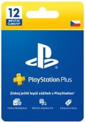 Sony PlayStation Plus 12 měsíců – Dárková karta, CZ (PS719807346)