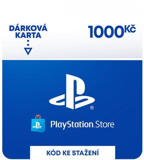 Sony PlayStation Store – Dárková karta 1000 Kč (SCEE-CZ-00100000) - elektronicky