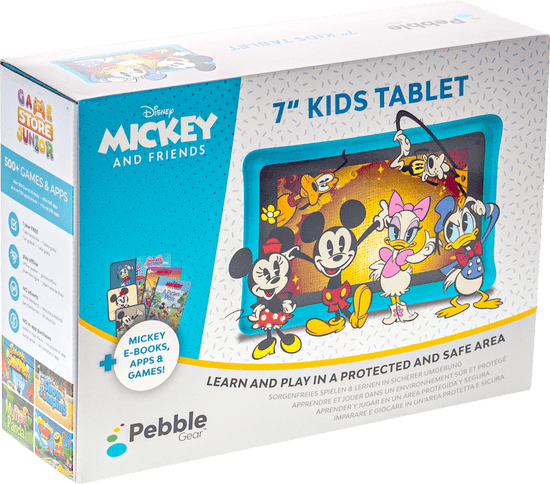Pebble Gear  Tablet dla dzieci Android Pebble Gear Kids Tablet Mickey and Friends, 17.8 cm (7 cal) 1.3 GHz, 1 GB, 1024 x 600 px, czarny EN