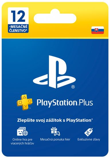 SONY PlayStation Plus 12 mesiacov - Darčeková karta, SK