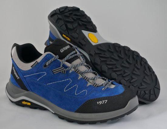 Grisport 14303 nizki treking čevlji, modro/sivi s sivimi vjugami