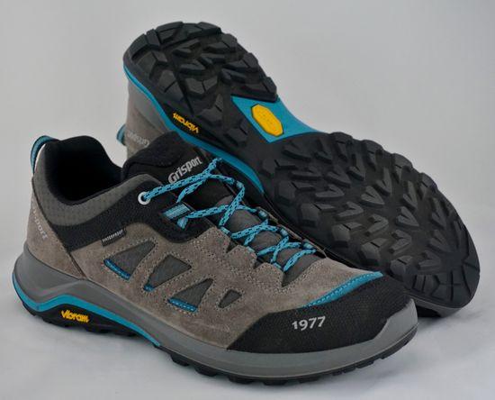 Grisport 14305 nizki treking čevlji, sivi/modri s sivimi trikotniki