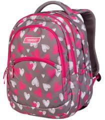 Target 2 u 1 Curved ruksak, Grey Hearts (26959)
