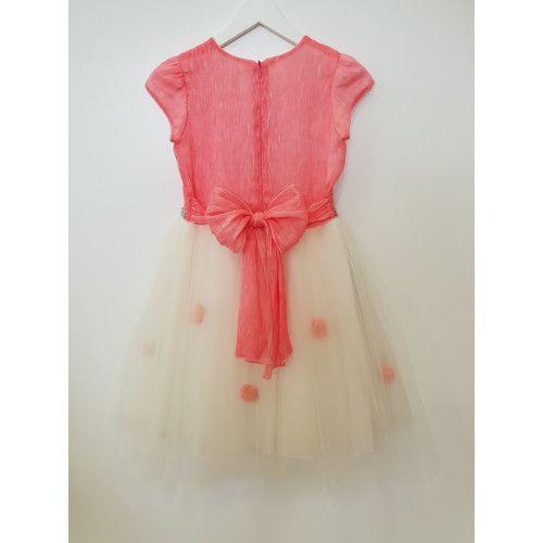 DAGA kidswear Dievčenské šaty ružové s tylovou sukňou M6167-Daga collection