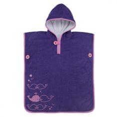 Aqua Sphere Ručník dětský s kapucí Poncho Towel, 1.stupeň školy M.Phelpse, Fialová