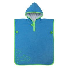 Aqua Sphere Dziecięcy ręcznik z kapturem Poncho Towel, 1 klasa M.Phelps, niebieski