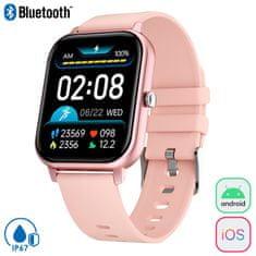 Trevi T-Fit 270 sportski sat, Bluetooth, IP67, ružičasti
