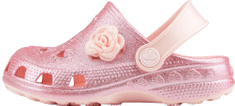 Coqui dekliški natikači Little Frog Candy pink glitter + amulet, 20/21, roza