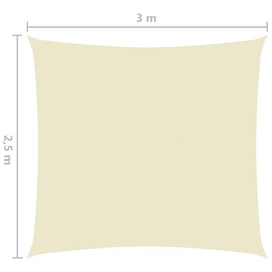 shumee Pravokotna vrtna jadra Oxford Cloth 2,5x3 m krema
