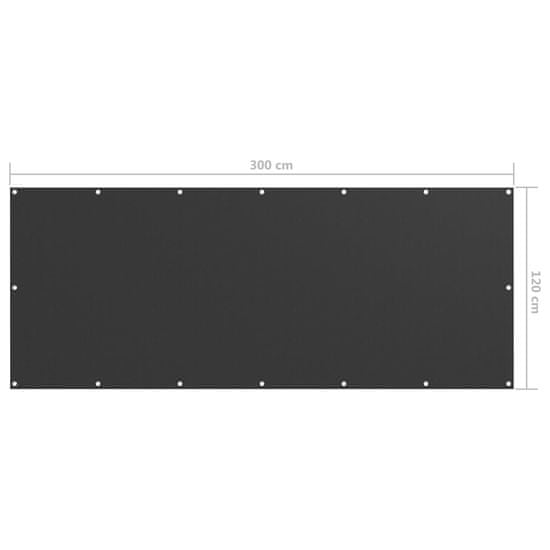 shumee antracitszürke oxford-szövet erkélyparaván 120 x 300 cm