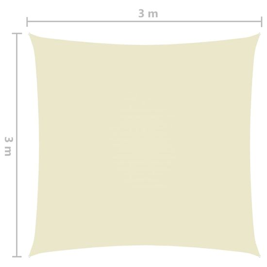 shumee Vrtno jadro Oxford Cloth Square 3x3 m krema