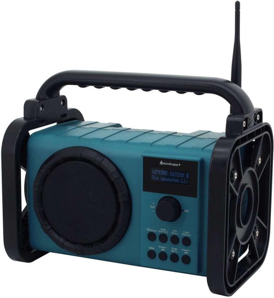 Soundmaster DAB80, DAB+/FM rádio, černá/modrá