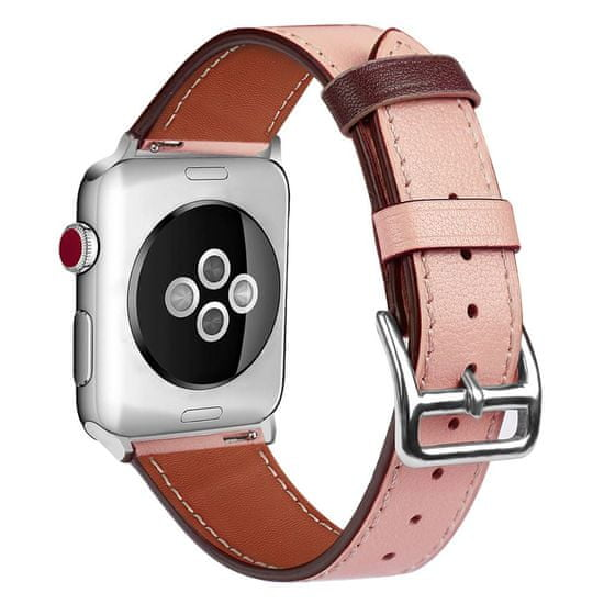 BStrap Apple Watch Leather Rome 38/40mm szíj, Apricot