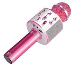 MG Bluetooth Karaoke mikrofon s reproduktorem, růžový