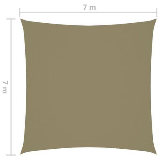 shumee Vrtno jadro Oxford Cloth Square 7 x 7 m bež