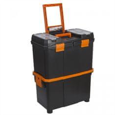 """Handy Mobilni večdelni plastični kovček za orodje na kolesih - 18 """" - 460 x 260 x 625 mm"""