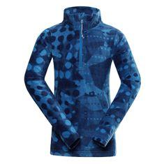 ALPINE PRO otroški pulover, 92 - 98, moder