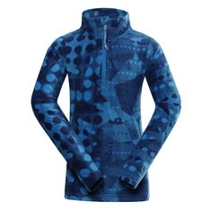 ALPINE PRO otroški pulover, 128 - 134, moder