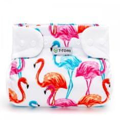 T-tomi pielucha ortopedyczna - zatrzaski, flamingo, 3-6 kg