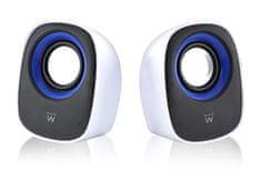 Ewent EW3513 zvočniki, 5 W RMS, USB, črno-beli