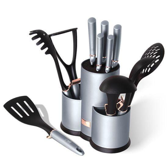 Berlingerhaus set noževa i kuhinjskog pribora u postolju Moonlight Edition, 12 komada