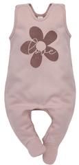 PINOKIO dekliški pajac s stopalkami Happiness 1-02-2104-180A-RO, 56, roza