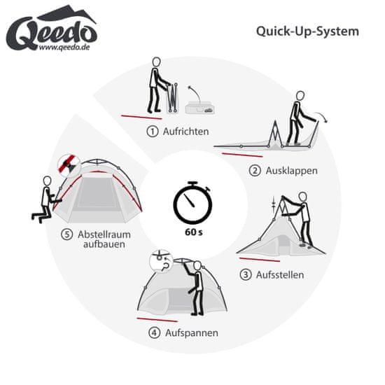 Qeedo šotor Quick Oak 3, siv