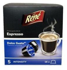 René Espresso kapsule pre kávovary Dolce Gusto 16 ks