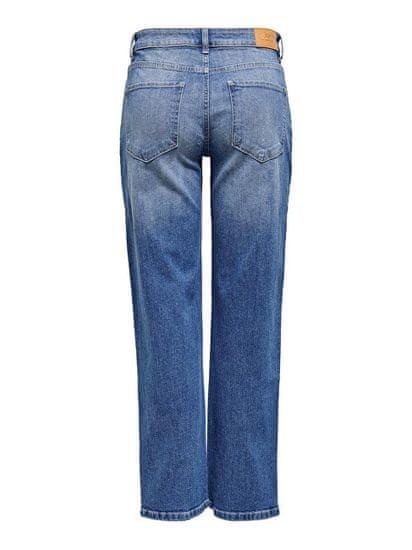 Jacqueline de Yong Dámské džíny JDYKARL LIFE Straight Fit 15229561 Light Blue Denim