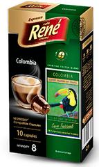 René kapsułki Espresso Colombia do ekspresów do kawy Nespresso, 10 szt.