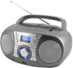 Soundmaster radio z napędem CD SCD1800TI, DAB+/FM i BT, srebrne