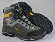 Grisport Moški polvisoki treking čevlji 11225, sivi/rumeni, 38