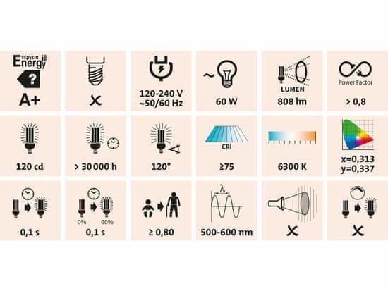Extol Light reflektor LED, nabíjecí s podstavcem, 800lm, Li-ion