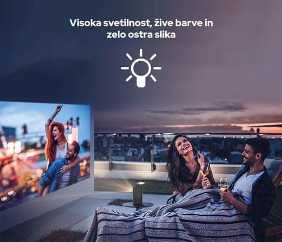 Byintek P20 prenosni mini projektor, 280 ANSI lumnov, Android, Wi-Fi, Bluetooth 5.0, 1080p